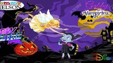Gabby the Angel Meets Vampirina Custom Wallpaper