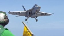Carrier Air Wing One (CVW 1) Lands on USS Harry S....