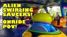 Alien Swirling Saucers Toy Story Land Onride POV W...