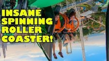 Arashi INSANE Spinning Roller Coaster 4th Dimensio...