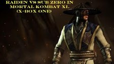 Raiden VS Sub Zero In Mortal Kombat XL (X-Box One)...