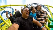 Riding the AWESOME Impulse Roller Coaster at Knoeb...