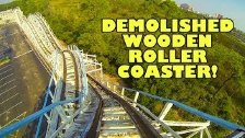 Cannonball Run CLOSED Wooden Roller Coaster!