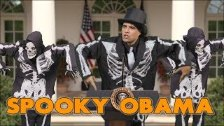 Obama Sings Spooky Scary Skeletons - This Day in H...