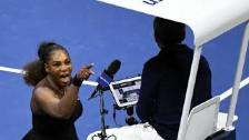 SERENA WILLIAMS ~ RAGE AT US OPEN CONTROVERSY 9-8-...