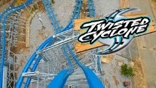 Twisted Cyclone Roller Coaster Front Seat REAL OFF...
