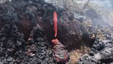 Lava Oozing from Kīlauea Volcano
