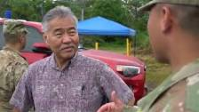 Hawaii's Governor Tours National Guard Efforts...