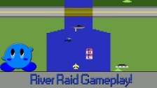 River Raid Review And Gameplay On Atari 2600
